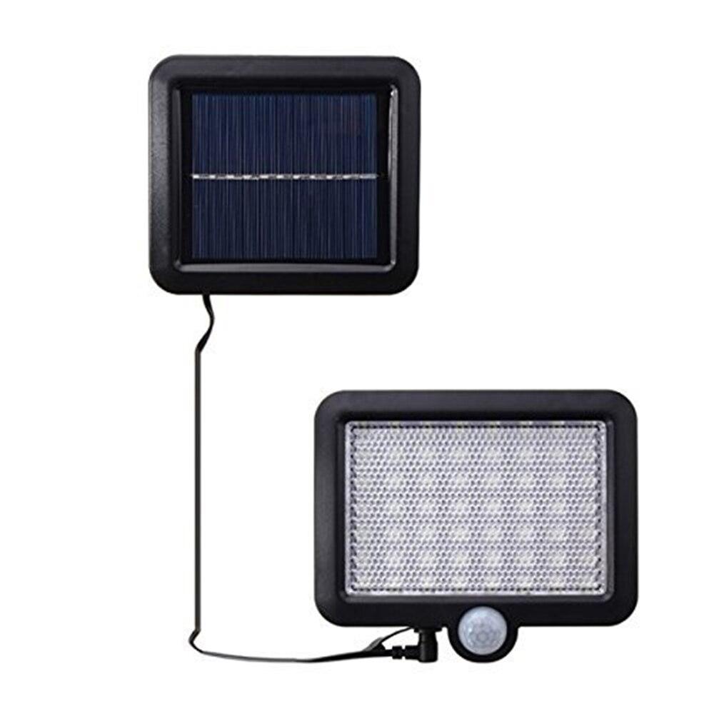 Led bahçe güneş lambaları açık 56 Led güneş işık hareket sokak duvar + lambaları yard garaj kapalı ev spot ışıkları avize