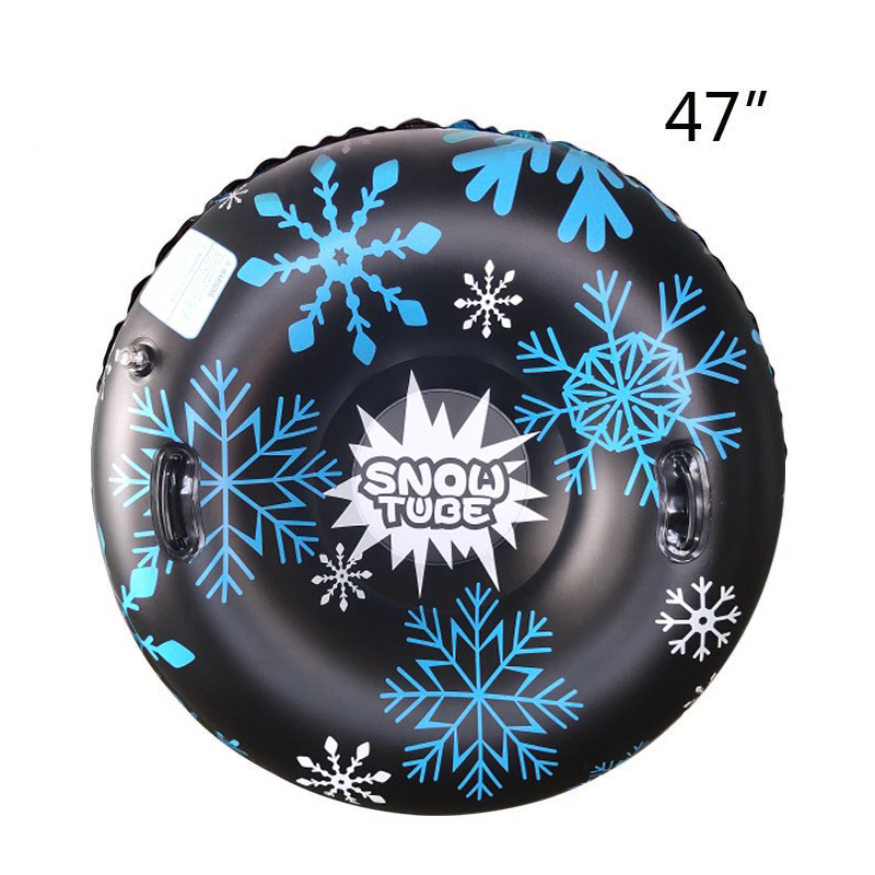 Floated Skiing Board PVC Winter Inflatable Ski Circle With Handle Durable Children Adult Outdoor Snow Tubes Skiing Accessories 8