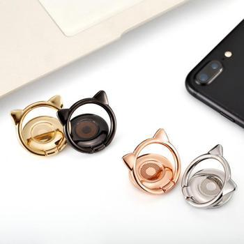 Akcesoria Ring Finger telefon komórkowy Smartphone stojak uchwyt na IPhone Huawei Samsung uchwyt na telefon komórkowy uchwyt do montażu na stojaku tanie i dobre opinie centechia CN (pochodzenie) Uniwersalny Mobile Phone Stand Uchwyt pierścieniowy na palec Ze stopu aluminium Alloy General
