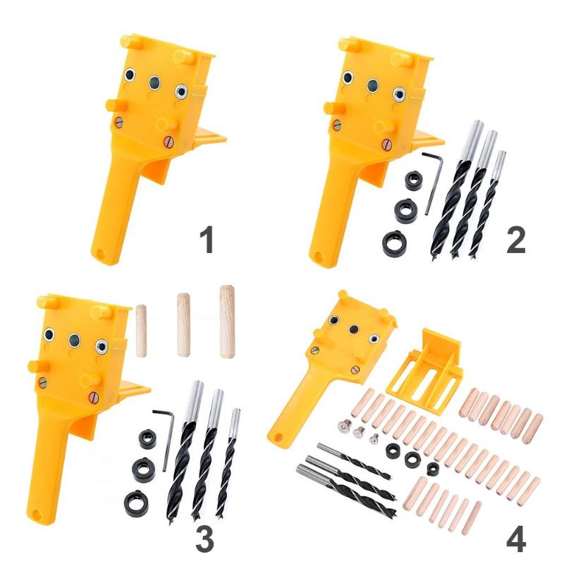 Handheld Dowel Jig Plastic Woodworking Tools Jig Pocket Hole Jig Drilling Guide ABS Plastic For Dowel Joints Drilling Guide Tool