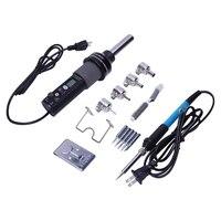 Bmby eua plug  Gj 8018Lcd 220 v 450 w grau ajustável eletrônico de calor ar quente desoldering estação de solda + solda elétrica iro|Pistola ar quente| |  -