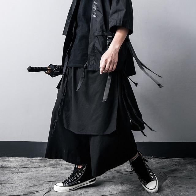 Men Casual Baggy pants Hip-hop Trouser Dancing Wide leg Pants Gothic Punk Style loose Pants Men 2