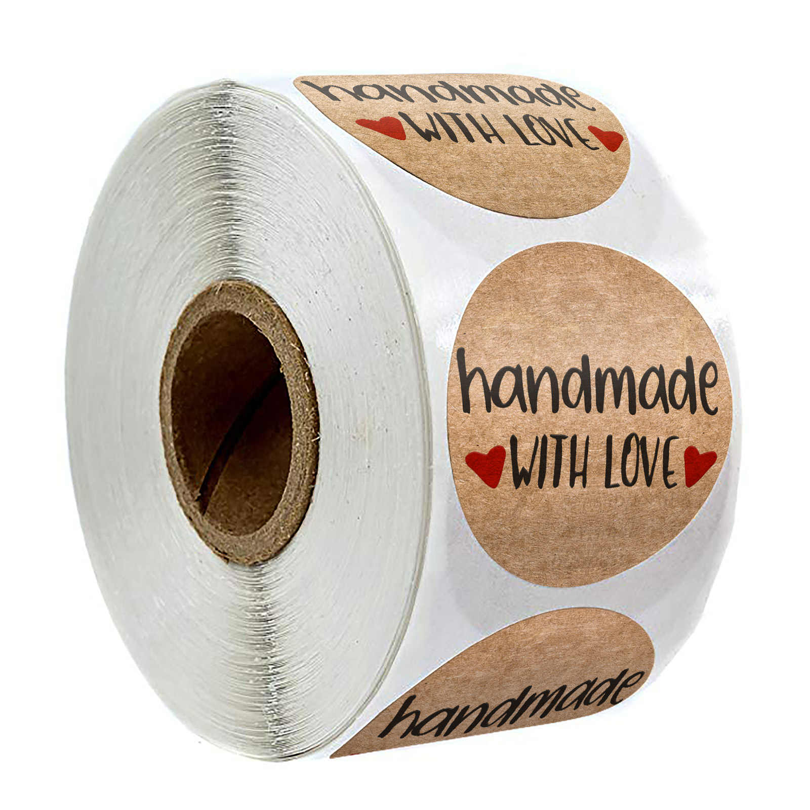 300Pcs Kraft Handmade Baking Sticker Self-Adhesive Label Handmade Adhesive Stick