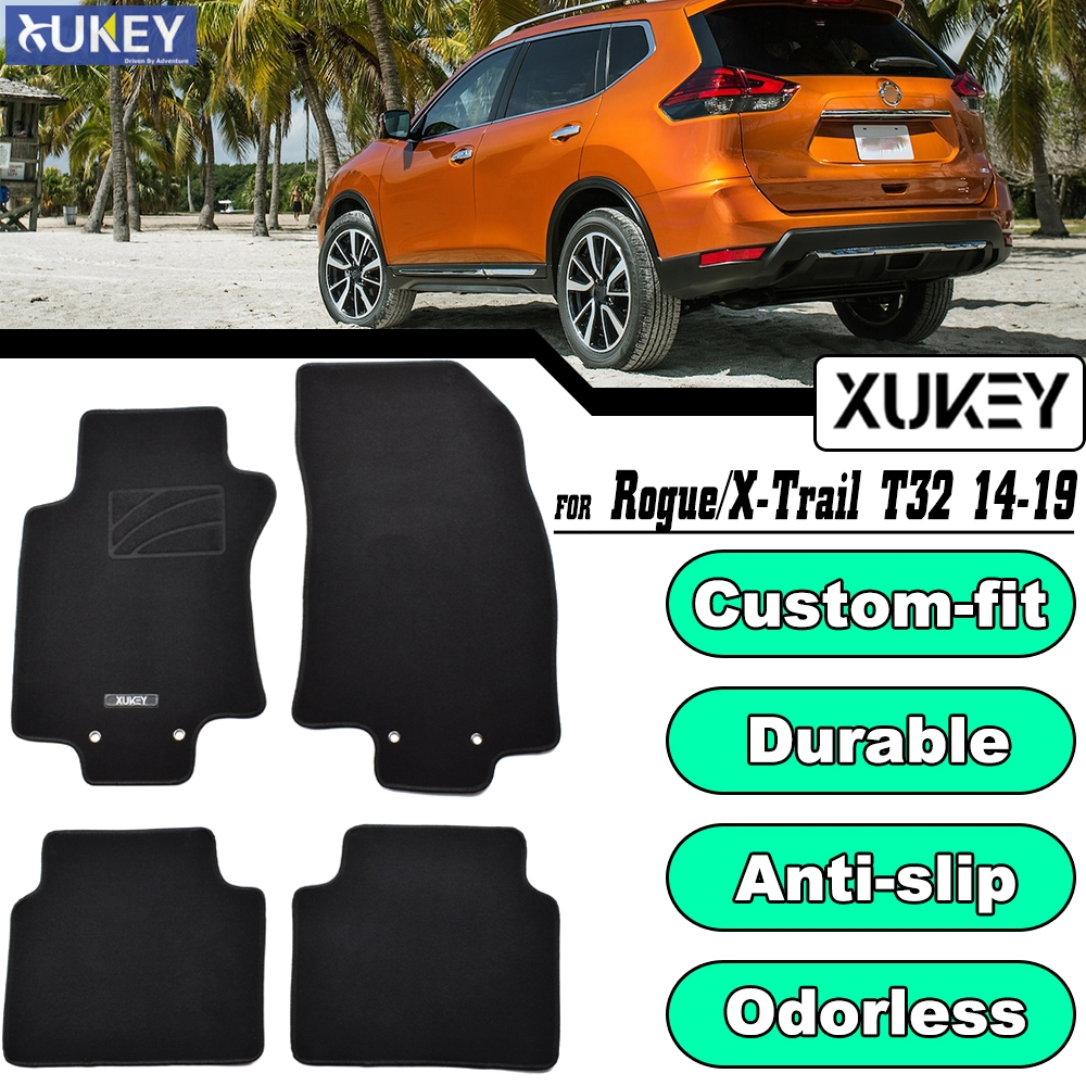 For Nissan X Trail 2007-2014 Black Tailored Floor Car Mats Carpet //Rubber