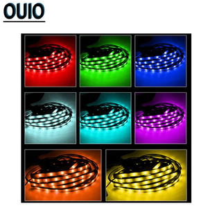 Image 5 - 4PCS/set 60/90cm 36/54 LED Car Strip Light 5050SMD Atmosphere Lights Dash Floor Foot Decorative Lamp Chassis Lights With Remote