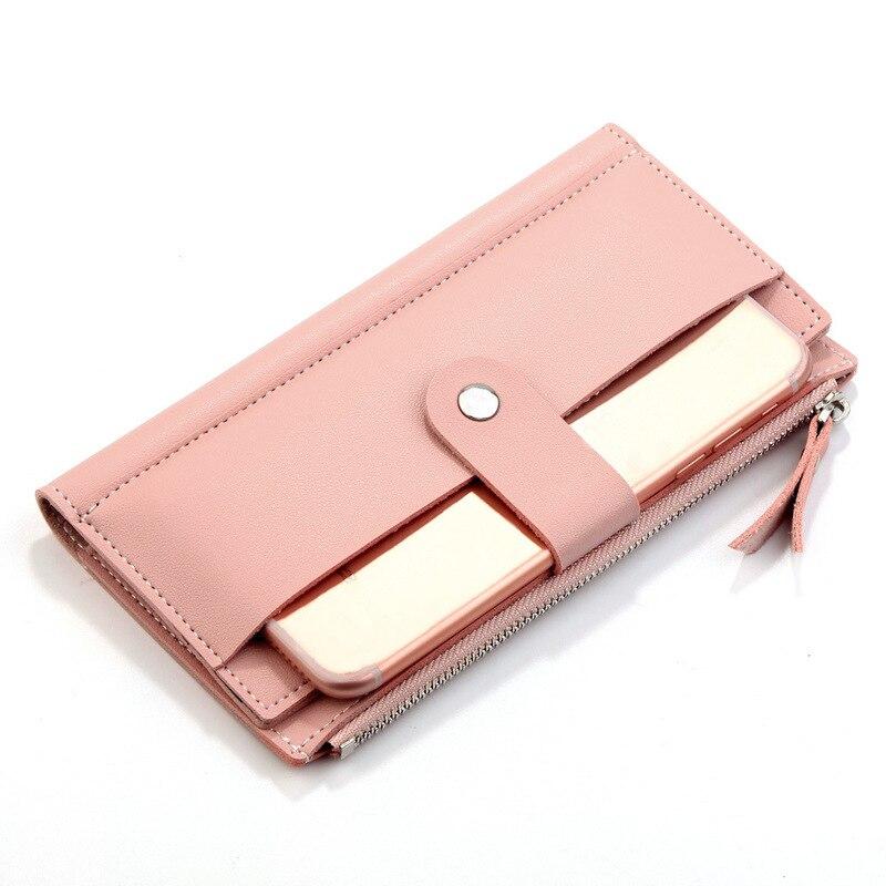2019 Luxury Brand Women Wallets Long Fashion Fastener Hasp PU Leather Wallet Female Purse Clutch Money Women Wallet Coin Purse