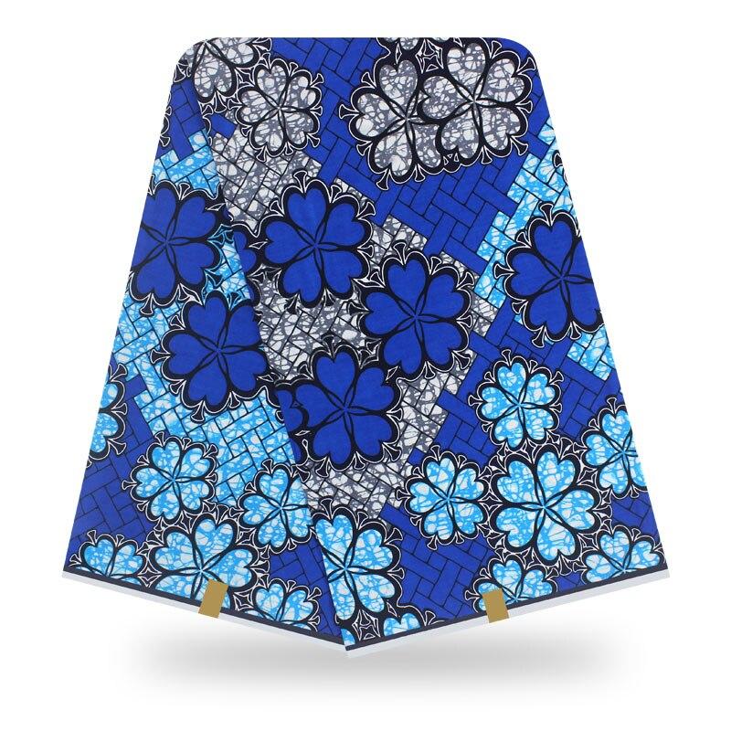 African High Quality Cotton Wax  6yards  Wax  Guaranteed Real  Wax African Ankara Sewing Fabric