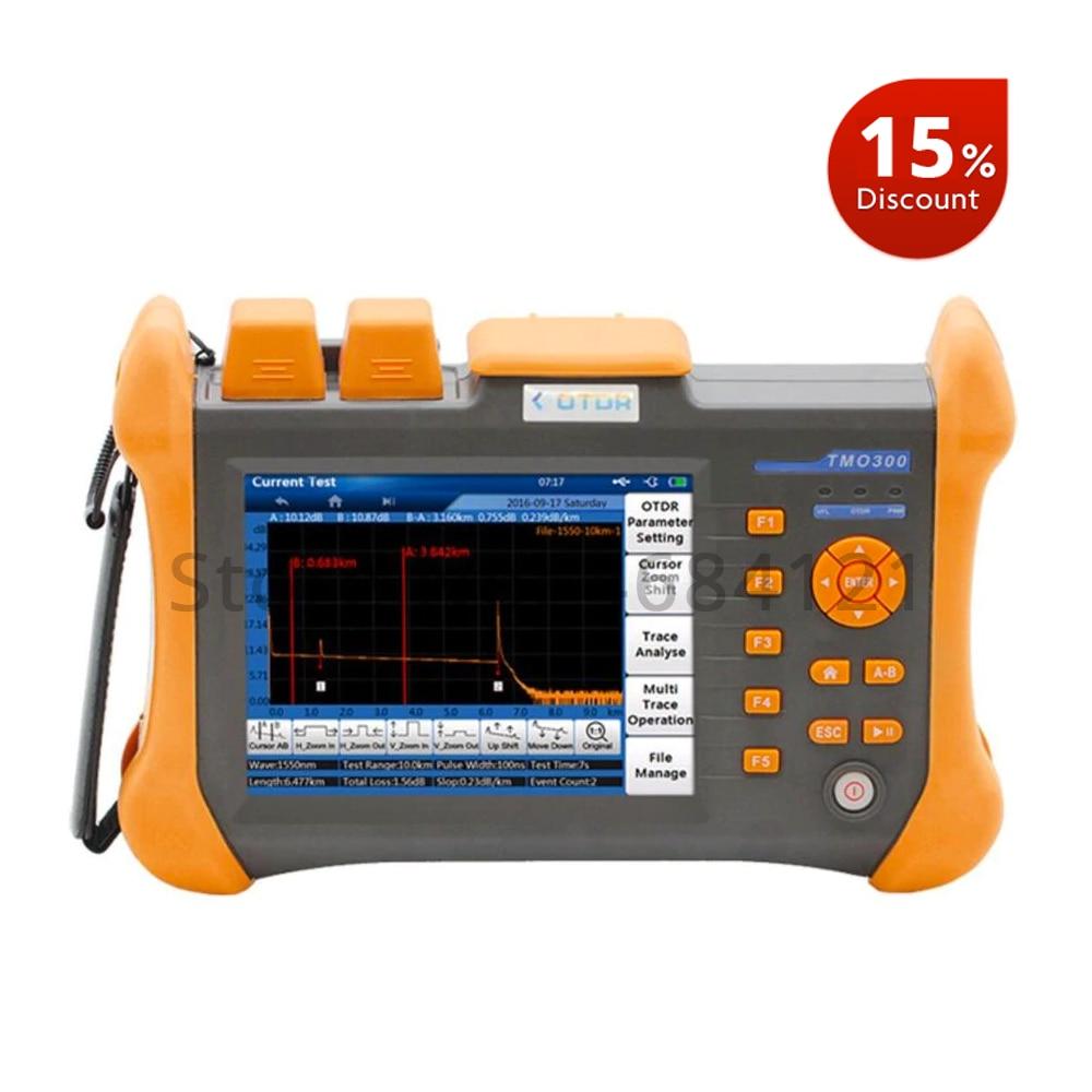 TMO-300-SM-A 28/26dB 1310/1550nm SM OTDR Tester Embutido 10mW VFL Fibra Óptica Teste