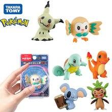 Figuras de acción de Pokémon, juguete Original de 4-6cm, EX Squirtle, Rowlet, Mimikyu