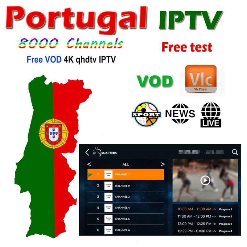 Europe IPTV 1 Year Android Iptv Portugal Subscription Sport Game Spain France Italy Arabic For M3u MA9 Ssmart TV Android Box