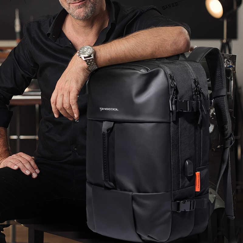 Tangcool Men Backpack Travel Business Laptop Backpack Large+USB Port Waterproof