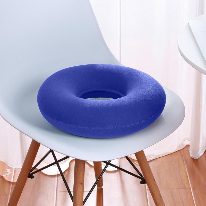 Inflatable Vinyl Ring Round Seat Cushion Medical Hemorrhoid Pillow Donut Free Pump Rubber Inflatable Seat Pad