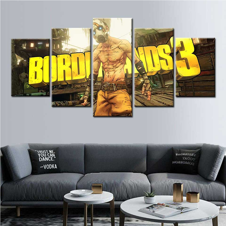 Canvas painting Borderlands 3 game poster wall art wall pictures for living room posters and prints paintings Modular picture image
