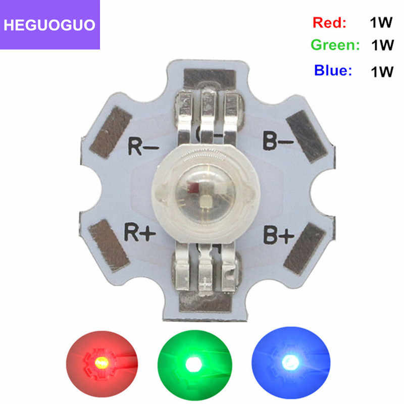 10 Pcs 3W Watt High Power LED SMD Chip UV White Blue Deep Red RGB Beads With PCB