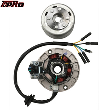 цены TDPRO Motorcycle Dirt Pit Bike 6 Poles Ignition Coil Magneto Stator Flywheel Rotor For YX 140cc 150cc 160cc Oil-cooled Engines