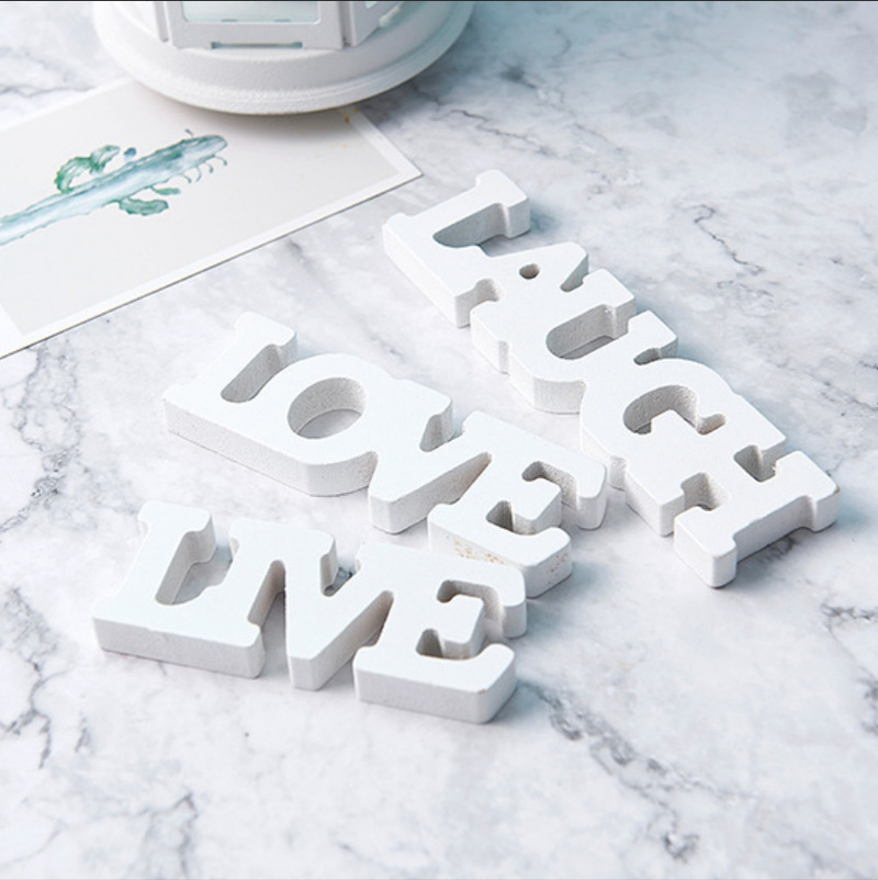 Wooden English Letters Wedding Props Decorations Decorative Gifts Love Supplies Halloween Centerpieces