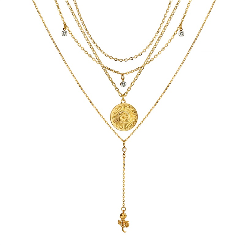 VKME модное жемчужное ожерелье с двойным слоем Love аксессуары Женское Ожерелье Bijoux подарки - Окраска металла: ZL0001041