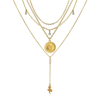 Γυναικείο κολιέ διπλό με μαργαριτάρι και καρδιά Κολιέ Κοσμήματα Αξεσουάρ MSOW