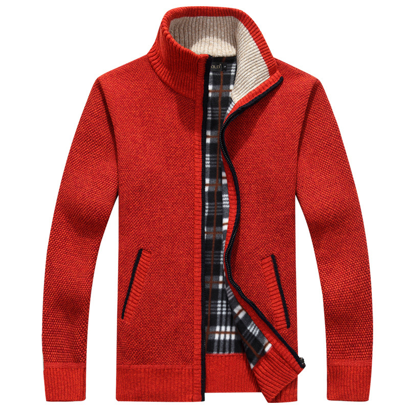 Cardigan Men Autumn Winter Warm Wool Cardigan Men's Sweater With A Zipper Casual Knitwear Male Clothes Chompas Para Hombre