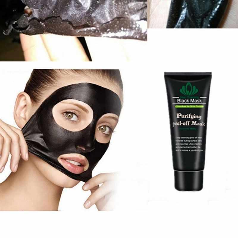 60g rasgo máscaras limpas, nariz preto, enfermagem, absorvendo máscaras de lixo, acne, máscaras de carvão de bambu, apertar os poros e apertar os poros