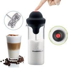 Nouveau mousseur à lait mousseur électrique café mousse fabricant lait frappé mélangeur batterie mousseur à lait cruche tasse
