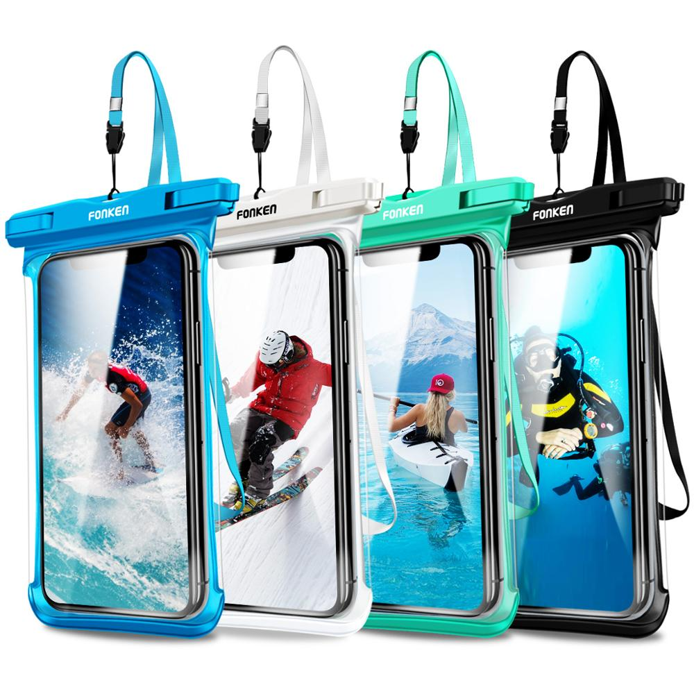 Full View Waterproof Case Rainforest desert snow transparent Cases dry bag Underwater Swimming Pouch Mobile Phone Covers image