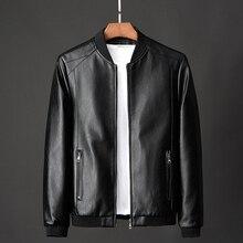 Leather Man Spring Fall 2020 New Korean Version Slim Fashion Leather Jacket Jacket Youth Baseball Jacket Man