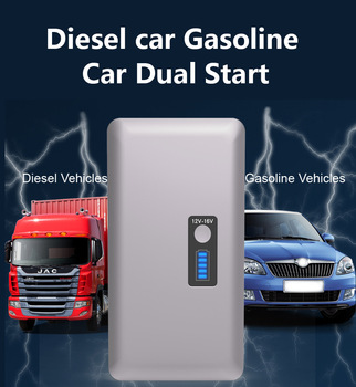 For 6L Petrol 4L Diesel - 98600mAh Car Jump Starter 1000A Peak Car Battery Power Pack 12V Auto Charger Starting Device with Bag