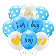 12inch Oh Baby Latex Balloons Baby Footprint Balloon Its A Boy Birthday Party Decoration Birthday Balloons Party Supplies Globos oh baby balloons for party decoration heart foil balloons decoration pd 143