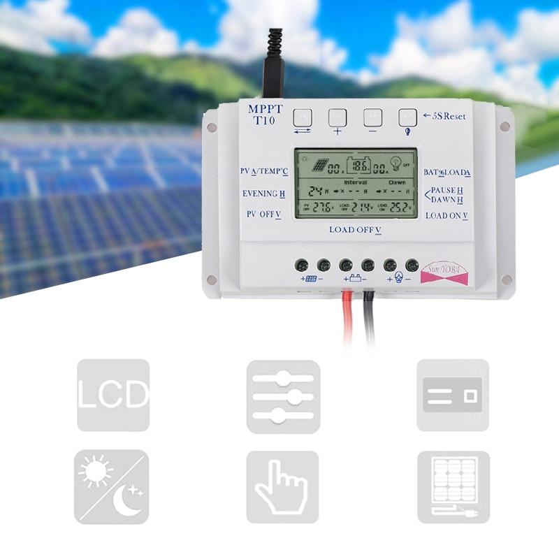 12 V/24V10/20/30/40A MPPT Auto LCD Display Solar Laderegler Controller mit Last dual Timer Control für Straße Licht