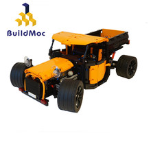 Buildmoc Technic Motor Power Custom Fun Truc Buildling Blocks Bricks Set Educational Kids MOC 0640 Forklift Model For Childr