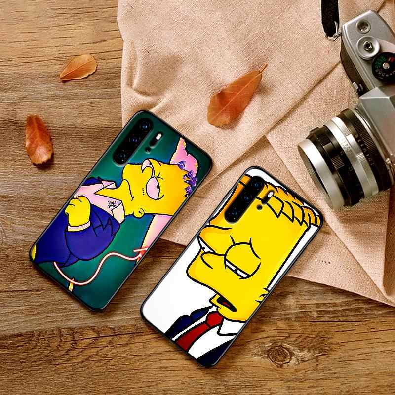 Sad Bart สำหรับ Huawei Honor 7X 8X 9X Pro 8 9 10 Lite Honor Note 10 ดู 20 6A 7A 3GB 7A Pro Coque Funda