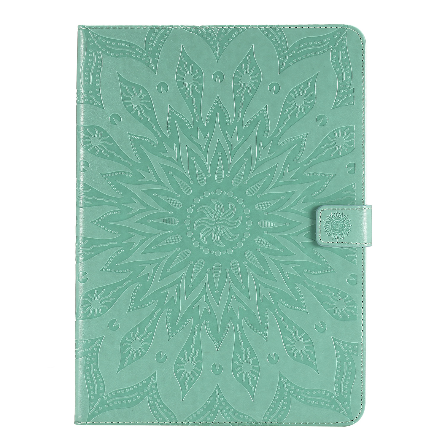 4 Black Flower 3D Embossed Cover for iPad Pro 12 9 Case 2020 Leather Protective Shell Skin for