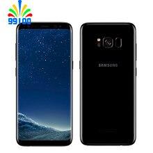 Восстановленный разблокированный сотовый телефон Samsung Galaxy S8 G950F/U, Qualcomm 835, одна/две Sim-карты, 4 Гб + 64 ГБ, экран 5,8 дюйма