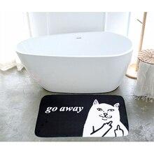 Личность кошка коврик для дома Коврик Прямоугольный коврик супер мягкие абсорбирующие Ванная комната дверной коврик входная дверь коврики...