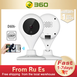 360 D606 Home Camera 1080P Full HD Mini IP WiFi Water Drop Wireless Infrared Security Camera CCD Motion Detection 2-way Audio