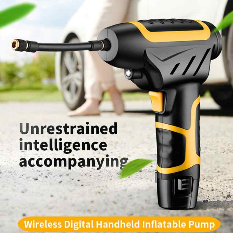 Universal 120W Inflatable Pump Handheld Electric 12V Digital Car Air Compressor Pump For Car Motorcycle Tires Balls