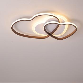 New aluminum alloy modern led ceiling chandelier for children bedroom lamp balcony study home warm chandelier 110V 260V 1