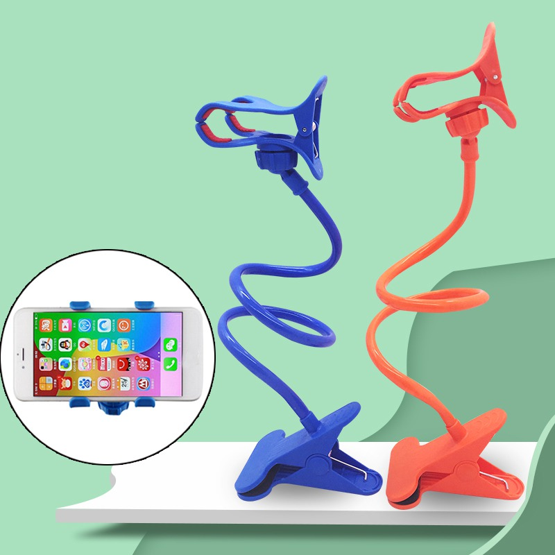 Best Selling 2020 Products Flexible 360 Clip Mobile Cell Mobile Phone Holder Creative Lip Type Telescopic Mobile Phone Holder