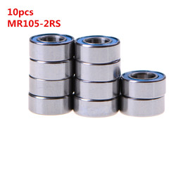 High Quality 10PCS 5x10x4 mm metel MR105-2RS Miniature Ball Bearings Rubber Sealed Ball Bearing