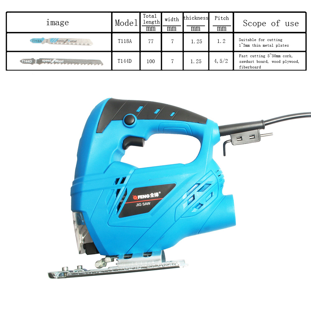 Tools : Electric curve saw woodworking Electric jigsaw metal wood gypsum board cutting tool Free shipping Wooden processing 220V EU plug