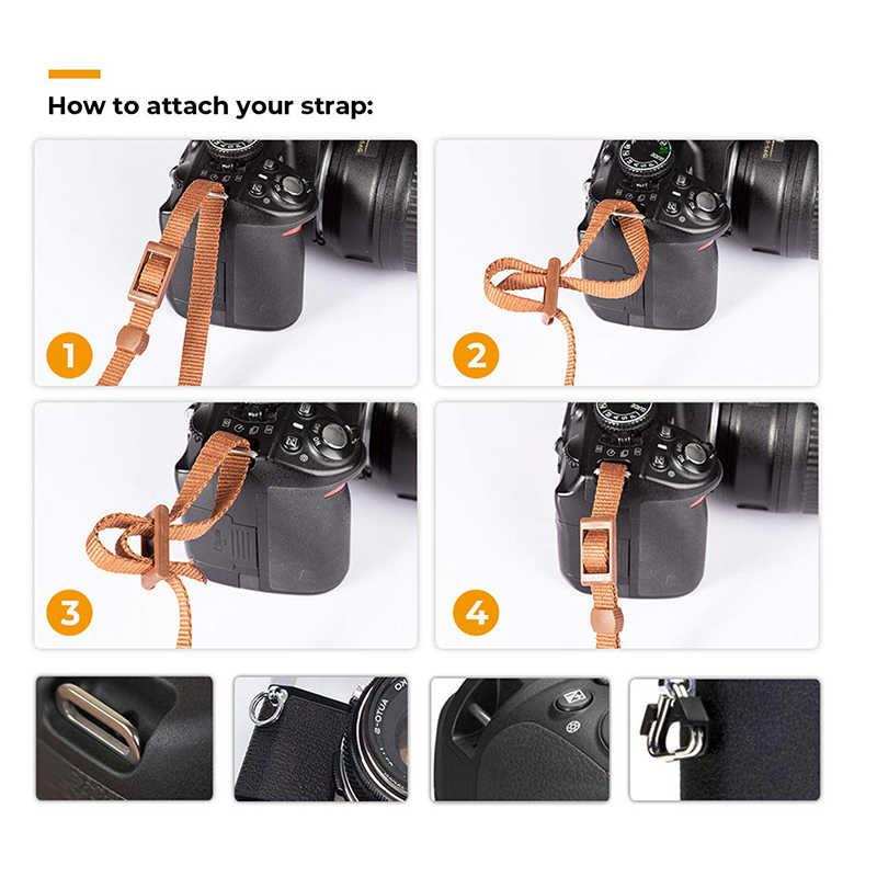 Nowy regulowany pasek ze skóry bawełnianej pasek na ramię pas do Sony/Nikon przenośna kamera pasek do lustrzanka cyfrowa DSLR