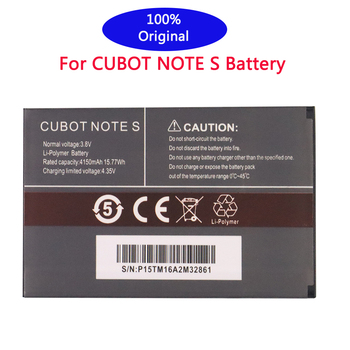 100% New Original for CUBOT Note S Battery 4150mAh Replacement backup battery For CUBOT Note S Cell Phone