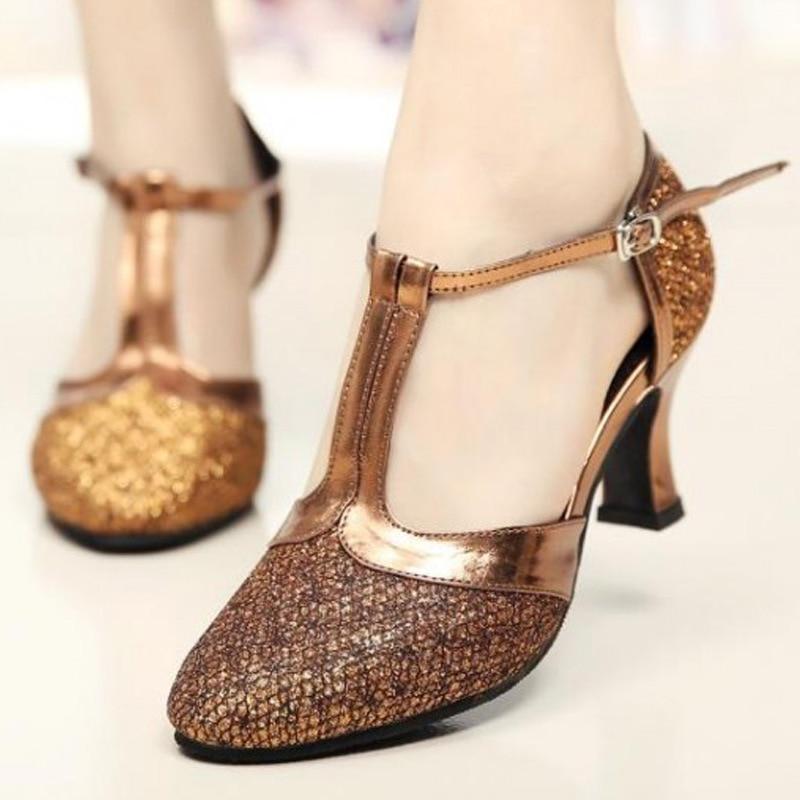 New Women Latin Dance Shoes Ladies Girl Tango Ballroom Comfortable Red Latin Dance Shoes For Women/Ladies/Girls Tango 5 Colors