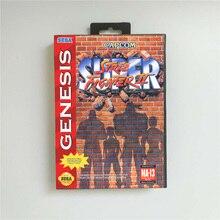 Süper sokak oyun Fighter II abd kapak perakende kutusu ile 16 Bit MD oyun kartı Sega Megadrive Genesis video oyunu konsolu