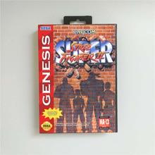 Super Street Game Fighter Ii Usa Cover Met Doos 16 Bit Md Game Card Voor Sega Megadrive Genesis video Game Console
