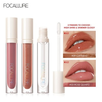 FOCALLURE PLUMPMAX Nourise Lip Glow High Shine&Shimmer Glossy Lips Makeup Non Sticky Plumping Lip Gloss 1
