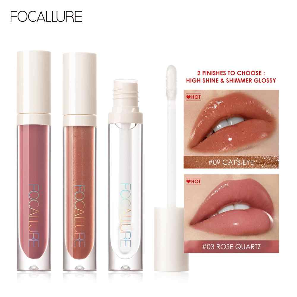 FOCALLURE PLUMPMAX Nourise brillant à lèvres haute brillance et miroitement brillant lèvres maquillage Non collant repulpant brillant à lèvres