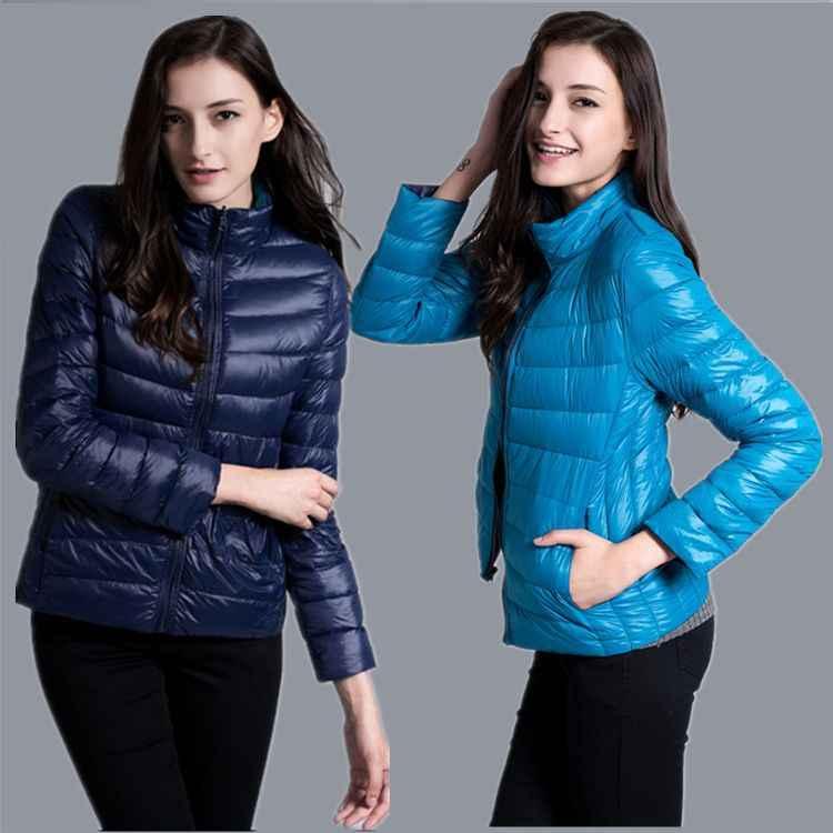 Jaket Wanita Ultra Ringan Jaket Wanita Bulu Dua Sisi Jaket Bolak Balik Ringan Mantel Taman