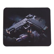 Mouse Pad Gun Picture Anti-Slip Laptop Computer PC Mice gaming Pad Mat Mousepad For Optical Laser Mouse hot selling(China)